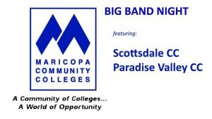 November 1: SCC & PVCC Big Bands @ The Nash | Phoenix | Arizona | United States