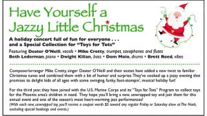 "December 2: Mike Crotty & Deater O'Neill Sextet - ""Have Yourself a Jazzy Little Christmas"" @ The Nash 